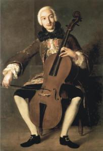 Abbildung 4: Pampeo Batoni (zugesch.): Luigi Boccherini, ca. 1764 (aus: W. Pape und W. Boettcher, Das Violoncello, Mainz 1996)