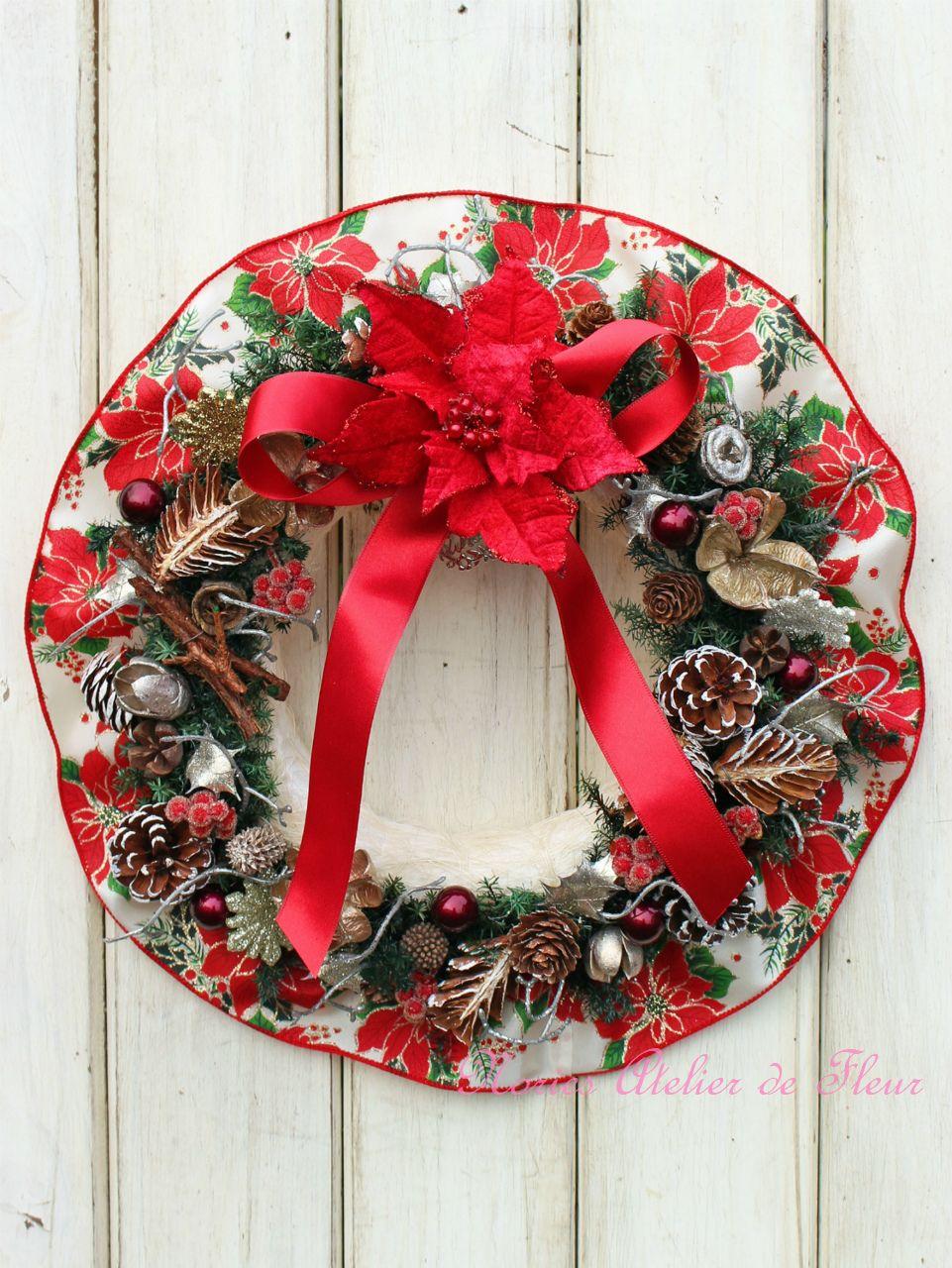 木の実のクリスマスリース「私のChristmas」