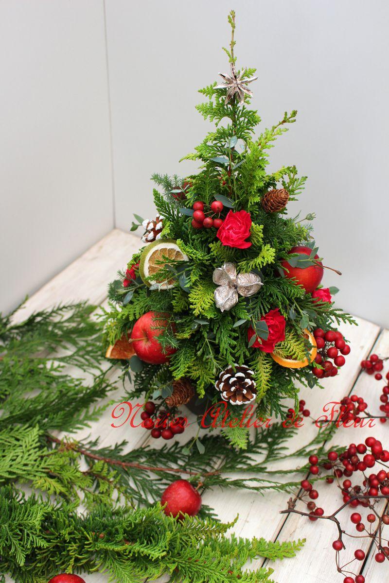 もみの木やヒバなどで使ったクリスマスツリー