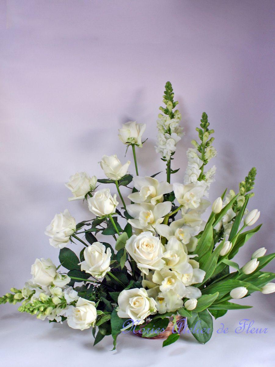 菊を入れないお悔やみの花