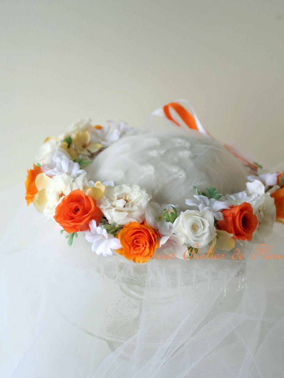 ブーケと同じテイストで作る花かんむり