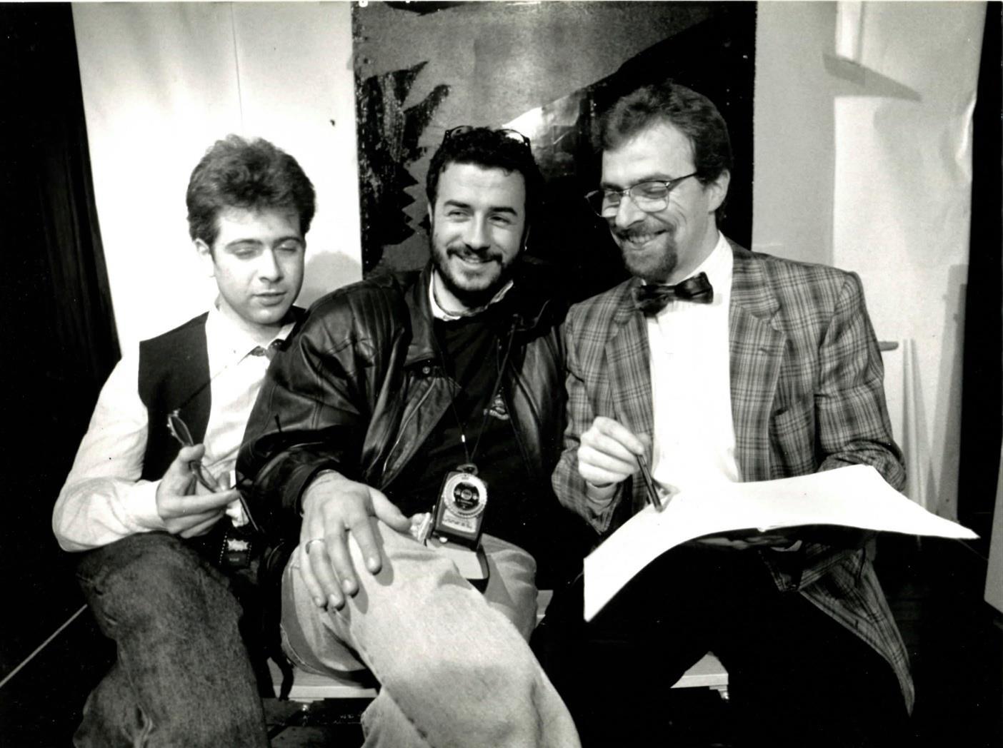 Maggio 1990, al Teatro Intrastevere con Mimmo La Rana e Marcello Berengo Gardin