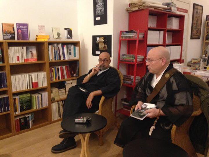 Novembre 2016 con il Rev. Tarabini allaLibreria Pagina2 di Roma