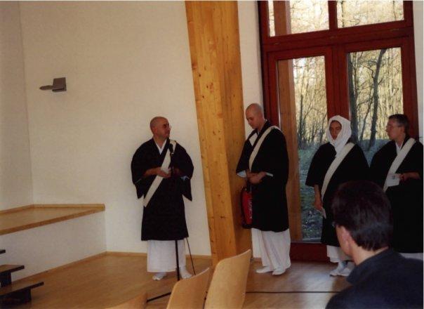 Febbraio 2002, Tempio DiaseonJi il primo discorso dopo l'Ordinazione