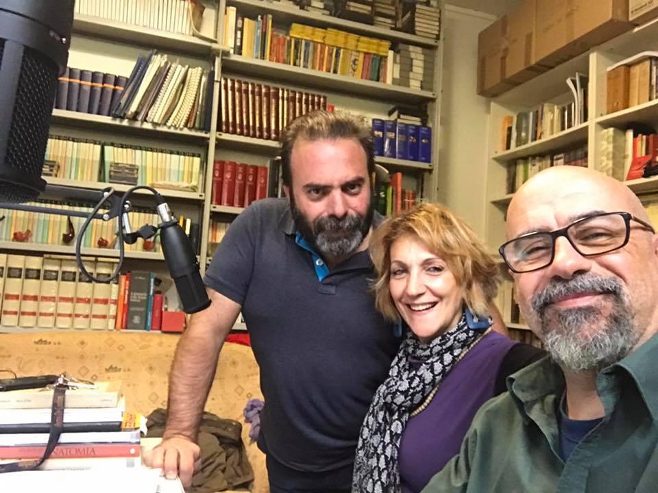 Maggio 2017 con Antonella Antonelli ed Andrea Cotrone a Radio Palcoscenico
