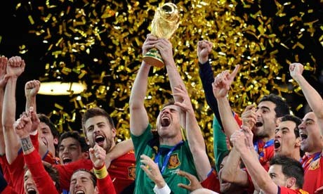 Taken from: http://www.theguardian.com/football/2010/jul/11/world-cup-final-spain-champions Photograph: Dylan Martinez/Reuters