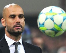 Pep Guardiola at a UEFA Champions league game copyright by sport1.de