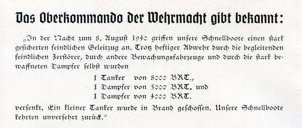 """Die Bekanntgabe des OKW - Aus dem Buch: Friedrich Meier """"Kriegsmarine am Feind"""""""