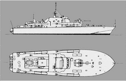 "S-Boot Klasse 153 - ""Strahl"" (engl. ""Brave""-Klasse)"