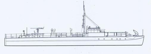 """""""S 14"""" - Bild aus Connelly/Krakow: """"Schnellboot in Action"""""""