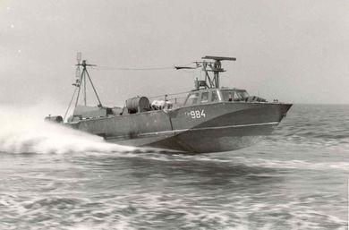 """Boot vom Typ """"Iltis"""" in voller Fahrt - Bild: Flohr"""
