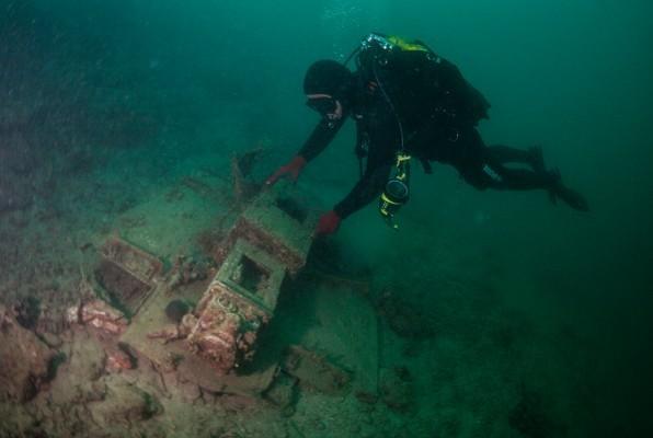"""Wrack """"S 158"""" auf 40 m Tiefe vor Sibenik/Kroatien"""
