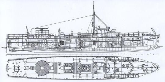 """S 7"" - Abb. Aus Conelly/Krakow ""Schnellboot in Action"""