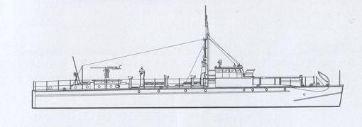 """Bild aus Connelly/Krakow: """"Schnellboot in Action"""" (Hier deutscher Typ """"S 2"""" – """"S 5"""" mit 20-mm-Kanone)"""