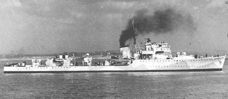 """Archiv-Foto von """"HMS Holderness"""" - Geleitzerstörer der Hunt-Klasse"""