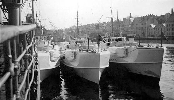 Boote der 1. S-Boot-Schulflottille in Stavanger - Foto: Archiv Johann Aakre