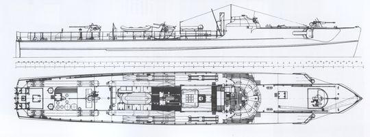 """S 701"" - Bild aus Steve Wiper: ""German S-Boats"""