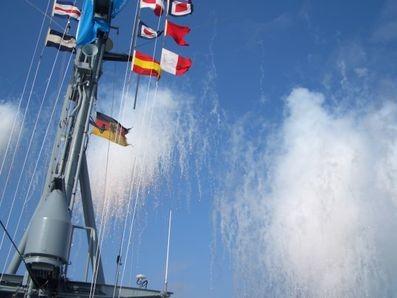 Düppelschießen auf einem Boot Klasse 143 A - Bild: Bernd Etzold