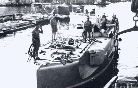 """""""S 47"""" im Schwarzen Meer noch ohne Kalotte - Bild aus Nachlass Kpt zS a.D. K.F. Künzel"""