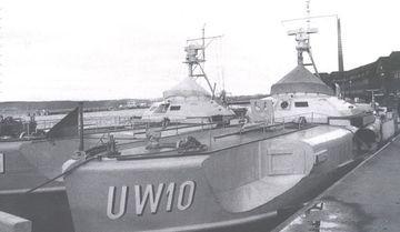 """""""S 130"""" und """"S 208"""" als """"UW 10"""" und """"UW 11"""" im MStp Flensburg- Mürwik - Foto: Unbekannt"""