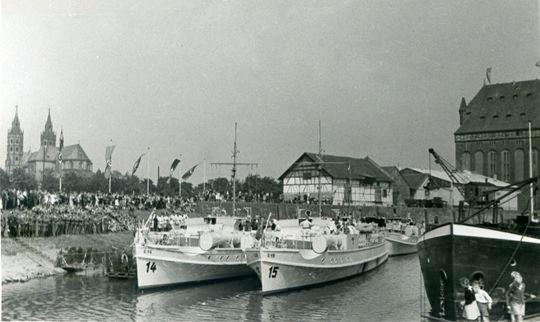 S-Boote im Hafen von Worm - Bild: Archiv Förderverein