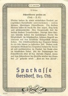 Rückseite des Sammelbildes der Sparkasse Gersdorf in Sachsen - Bild: Archiv Förderverein