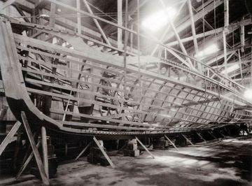 Spantenwerk eines S-Bootes - Bild:Lürssen