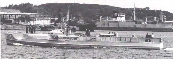 """ex-""""S 208"""" als """"W 50"""" bei der MUWS, später als Zielboot verbraucht  - Foto: Unbekannt"""