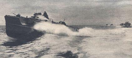 S-Boote mit Kurs Konvoi-Routen - Foto: PK-Aufnahme