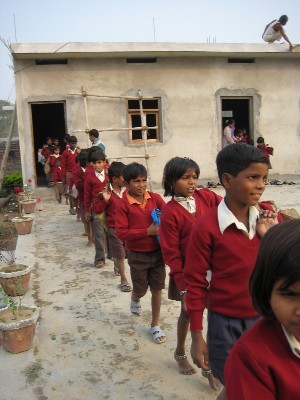 We shifted the place to next village and build new school building in 2005.