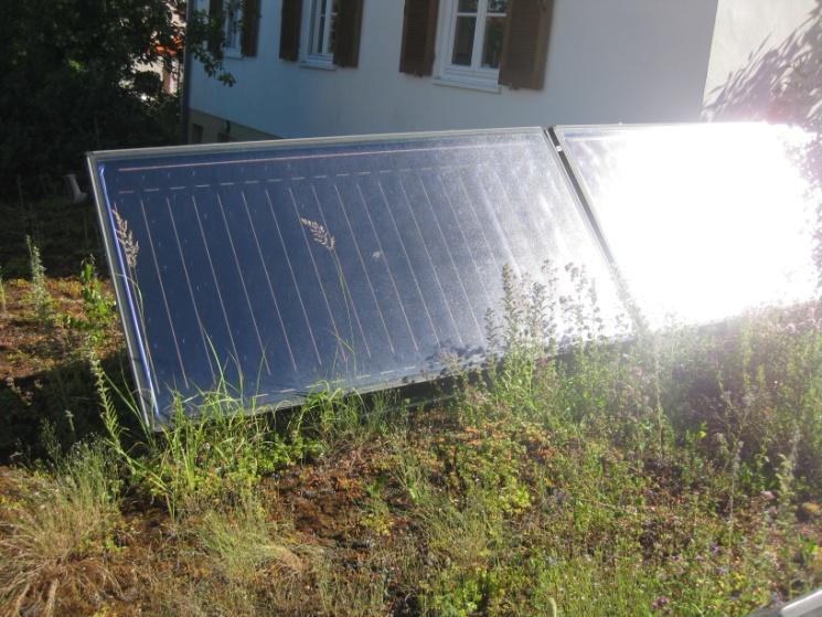 Vorhandene Solarkollektoren