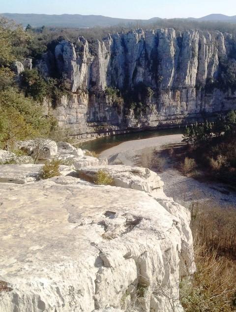Les falaises du Chassezac