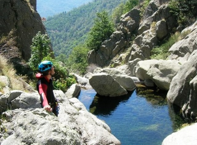 canyoning in fresh waters