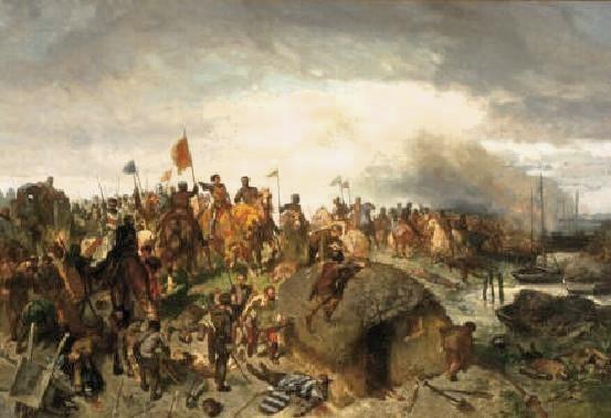 Rochussen, Charles 1856 Floris V in de slag bij Vroonen, 1272  Museum Boijmans te Rotterdam