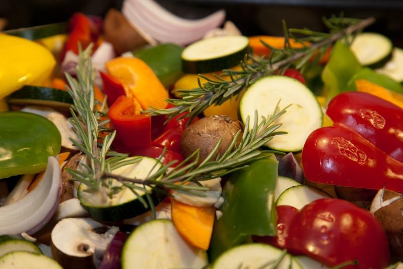 Frische Gemüsegerichte