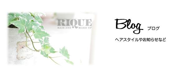 RIQUEのブログ紹介