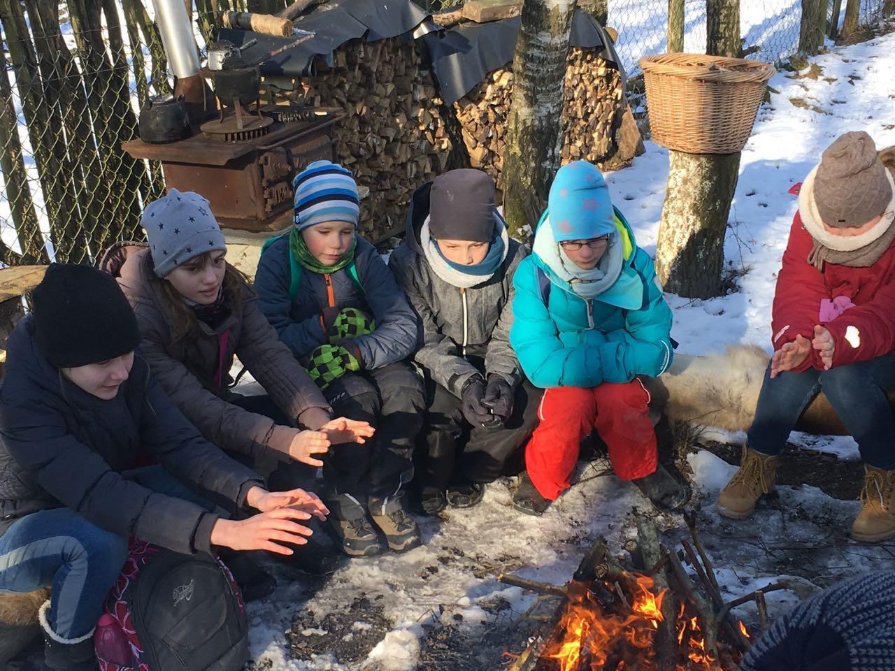 Auch draußen gab es für uns ein wärmendes Lagerfeuer.