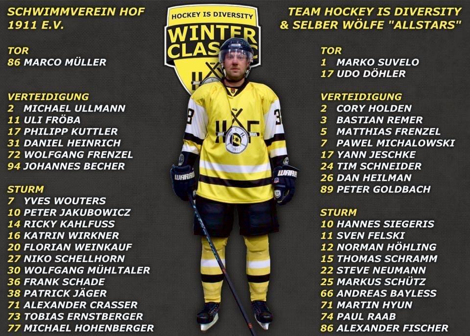 Die Mannschaftskader des 5. Hockey is Diversity Winter Classics