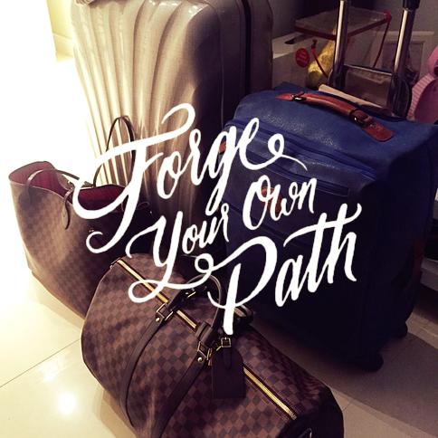 Mein Gepäck — es kam noch ein weiterer Koffer dazu.