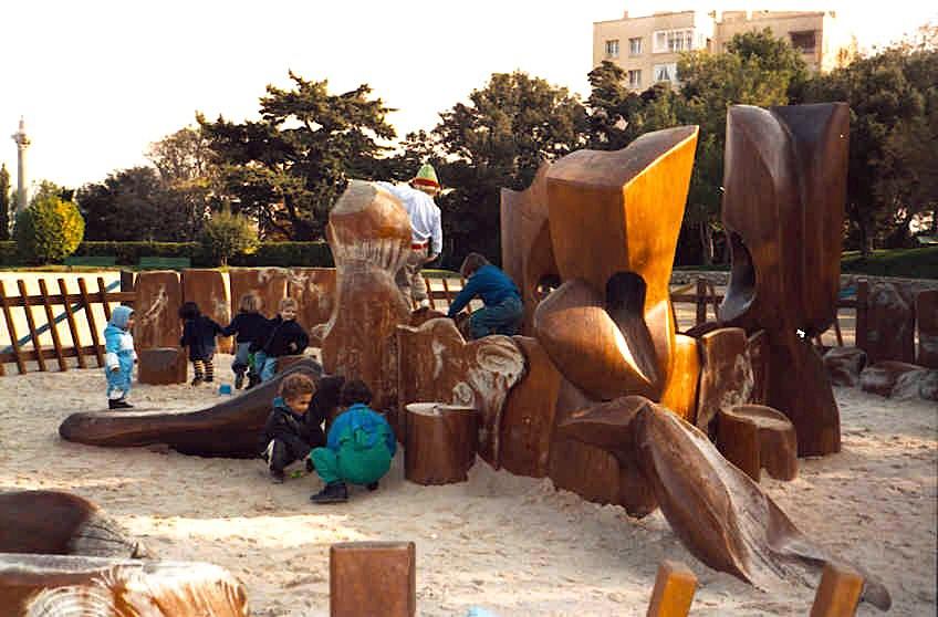 Marseille - Parc Puget - la fontaine de sable