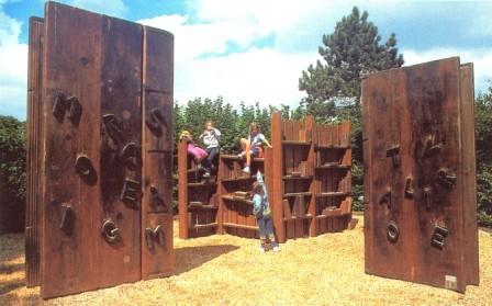 espace Culture - les livres à grimper et la bibliothèque Voltaire