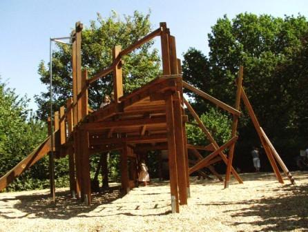 espace Reconstruction - structure ludique en bois de chêne