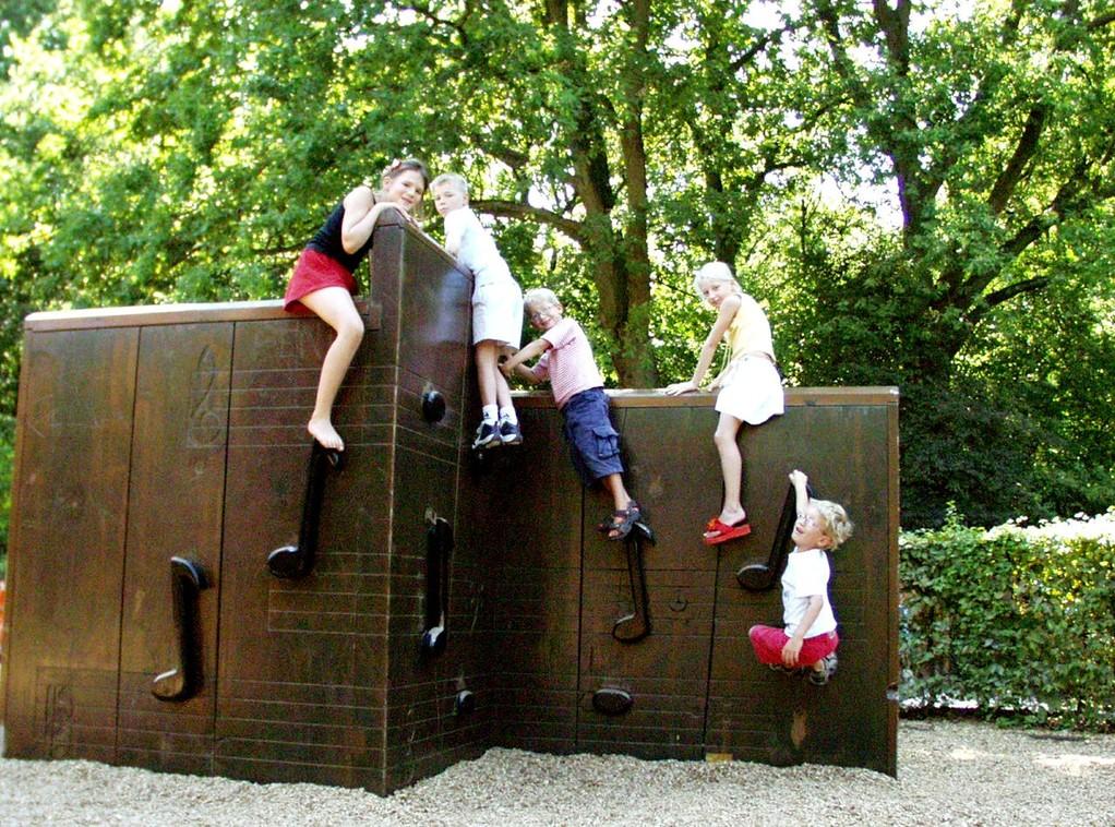 mur d'escalade musical au Parc de Sceaux