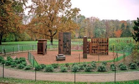 espace Culture en 1995 - séquoia et chêne