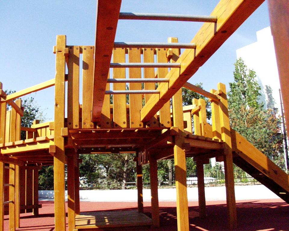 structure en bois de chêne
