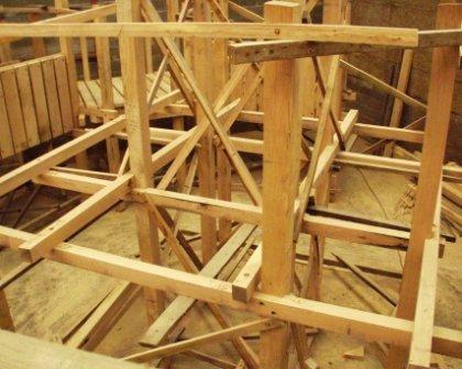"""à l'atelier: structure bois de chène - """"architecture"""""""