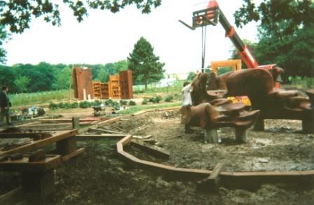 installation du Char du soleil et de l'espace Culture - 1995