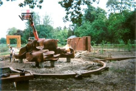 installation du Char du soleil - 1994