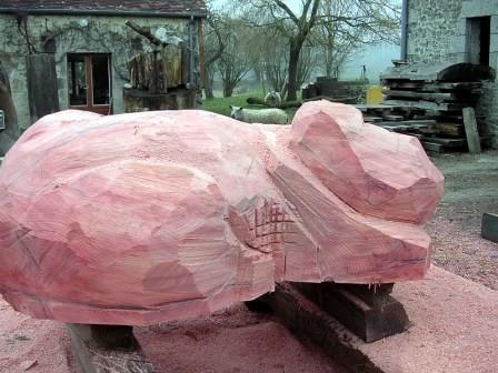 le rose du séquoia juste travaillé