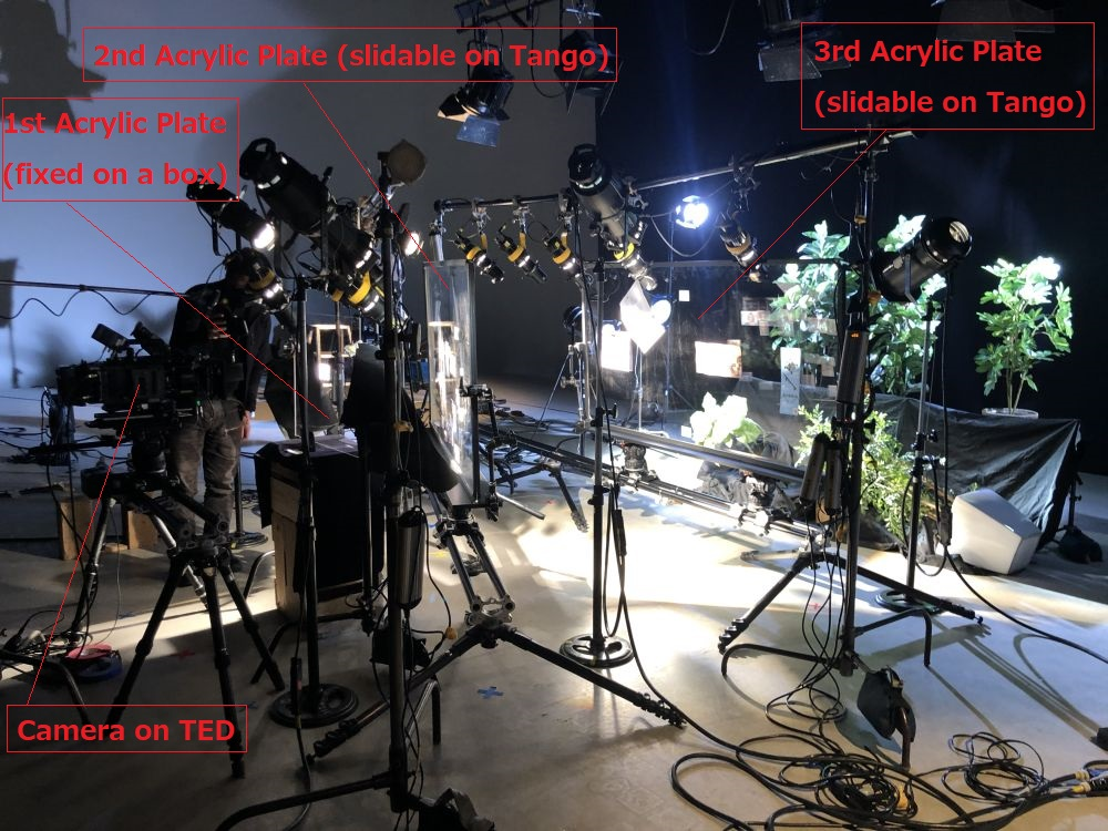 On set of a major Japanese Broadcast Station